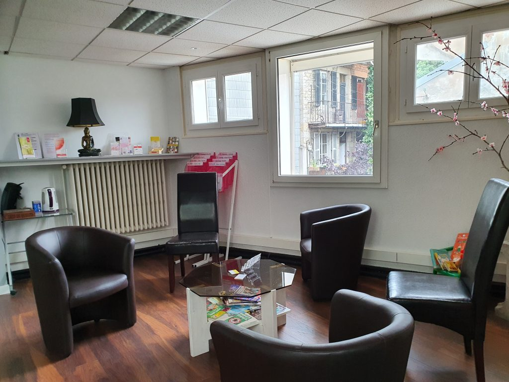 photo de la salle d'attente du cabinet de Lons-le-Saunier (39)